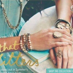 Chloe + Isabel Jewelry - Chloe + Isabel Retired Pavè Paillette Cuff